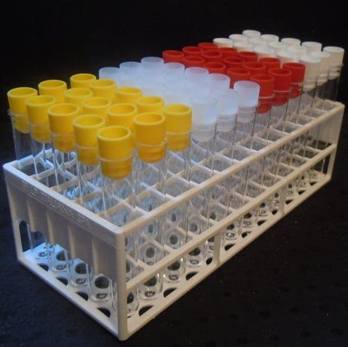 PS 10 ml Test tubes with  Tops and Tray (Set of 60)