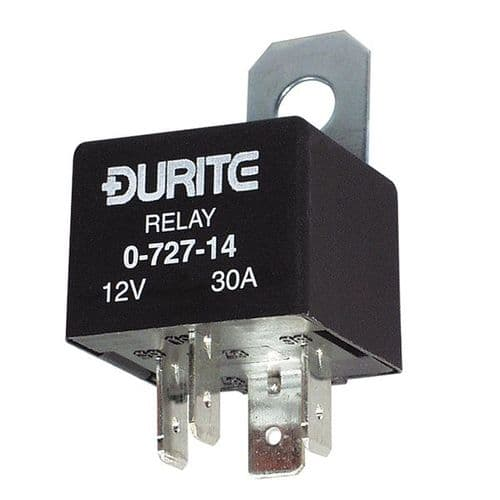 12V Mini Make/Break Relay - with Diode - 30A-0-727-14