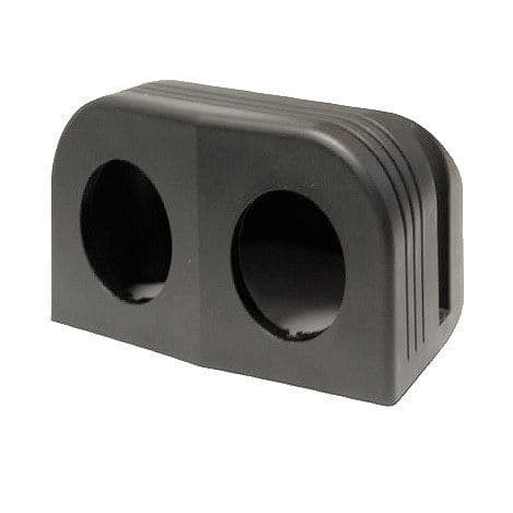 2 Hole Mounting Housing for 28mm Sockets-0-601-62