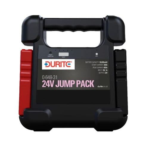 24V Jump Starter - 30,000mAH with Lithium Polymer Battery-0-649-31