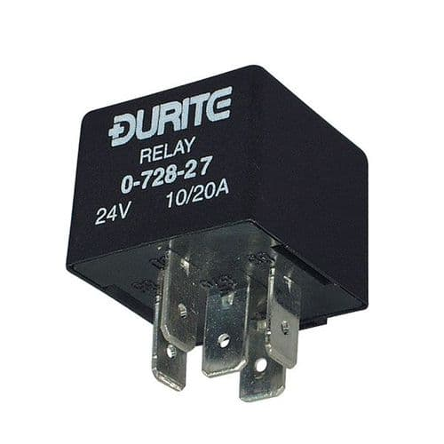 24V Mini Change Over Relay Sealed with Resistor - 10/20A-2-728-27