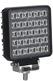 30 x 1W LED Square Work Lamp - 12/24V  0-420-34