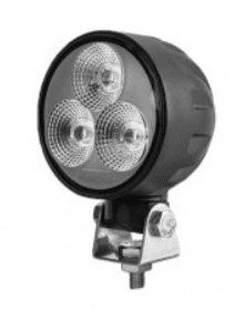 4 x 3W LED Work Lamp with 450mm Flying Lead - Black, 12/24V, IP67-0-420-31