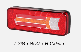 6 Function Left  Hand LED Rearlamp Combination - 12/24V-0-071-64