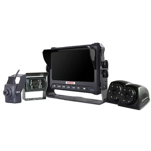"""7"""" Touchscreen 4CH Full HD Monitor with Built-in SSD DVR - 12/24V  0-774-03"""