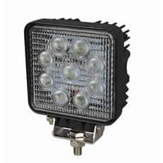 9 x 3W LED Square Work Lamp - 12/24V  0-420-66