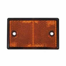 Amber 89x40mm Two Hole Fixing Reflector-0-507-10