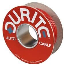 Brown/Red Single-Core Thin-Wall PVC Auto Cable - 1mm² x 100m-0-932-35