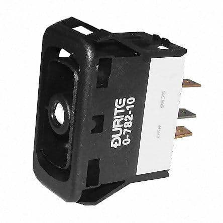 Change Over Single-Pole Non-Illuminated Two-Position Switch Body - 15A at 28V-0-782-10