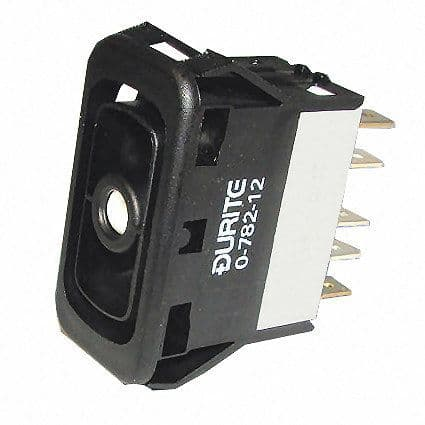 Change Over Single-Pole Two Illuminated Two-Position Switch Body - 15A at 28V-0-782-12