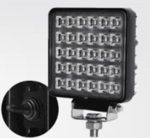 LED 100mm Hive  2500 Lumens Work Lamp with on/off switch on rear - Black, 12/24V  0-420-04