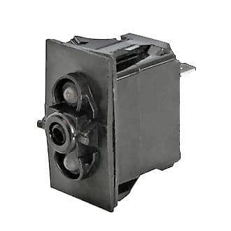 Off/Momentary On Double-Pole One-Illumination Two-Position Rocker Switch Body-0-781-61