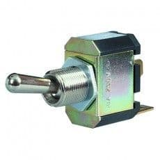 On/Off Toggle Switch with Nickel Plated Brass Lever - 10A at 28V-0-603-00
