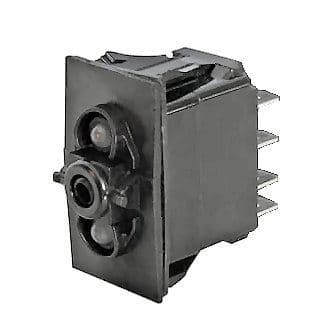 On/On/On Double-Pole One-Illumination Two-Position Rocker Switch Body-0-789-62