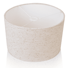 EVA Natural Linen Style Cylinder / Drum Lampshade Ceiling Light / Table