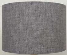 Loneta Grey / Silver Linen Style Cylinder / Drum Lampshade