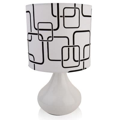 Modern white Funky Table Lamp  c/w Shade