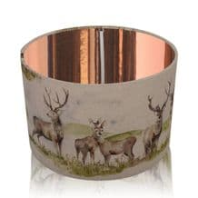 Voyage Maison Moorland Stag Lampshade c/w Mirrored Copper Interior
