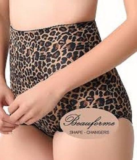 Beauforme Shapewear Firm Control Shaper Knickers In Animal Print (LP501)
