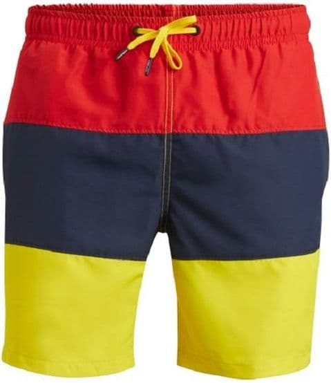 Bjorn Borg Men's Colour block Swim Short In Red (152158)