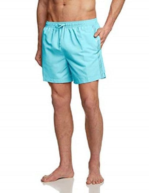 Calvin Klein Men's Medium Drawstring Swim Shorts In Blue (K9MN000206)