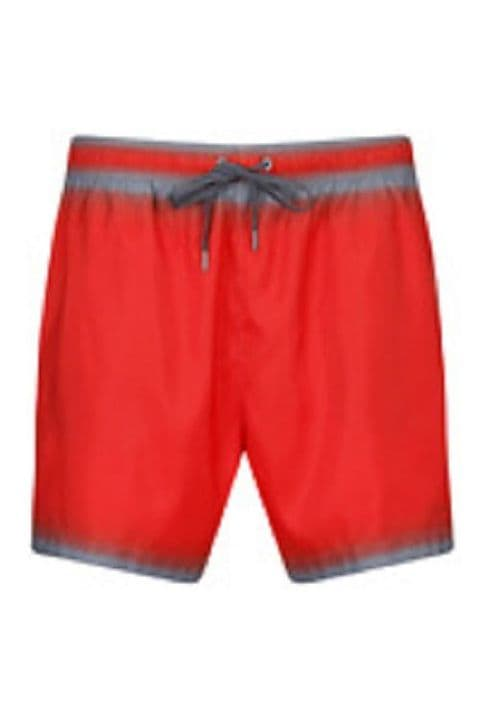 Calvin Klein Red And Grey Swim Shorts (K9MC000601)