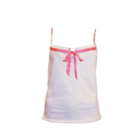 Cotton Real Cotton Real Ladies Jersey Cami Tie Top (16-100)