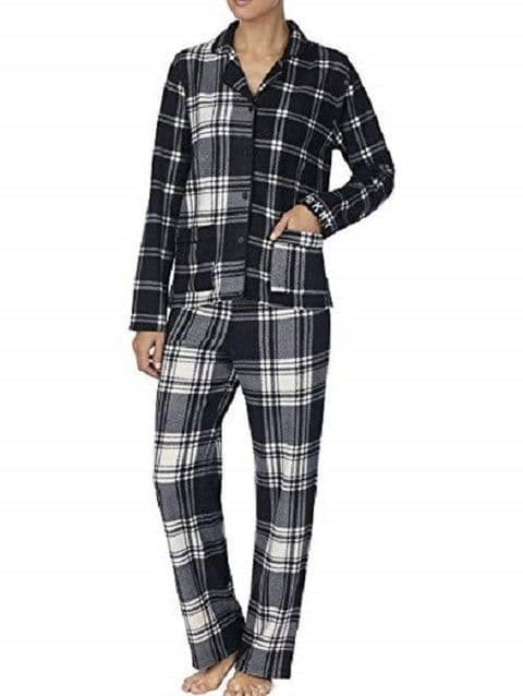DKNY Black and White Fleece Pyjamas (YI2119328F)