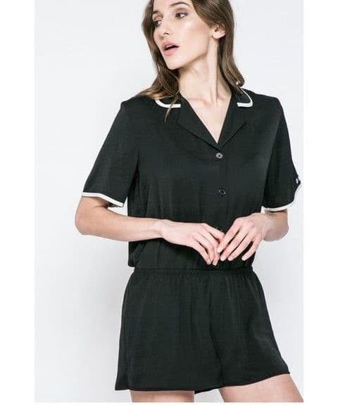 DKNY Black Short Pyjama Set With Eyemask (YI2019302)