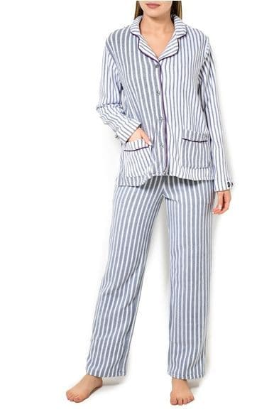 DKNY Grey and White Stripe Pyjamas (YI2119328F)