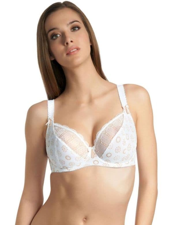 Freya Faye Balcony Bra In White (4202)