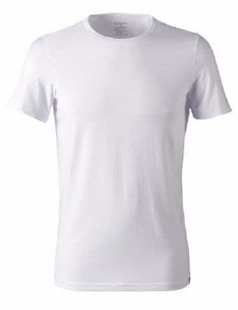 Jockey Mens 3D-Innovations 8 way stretch Crew Neck T-Shirt In White (22151812)