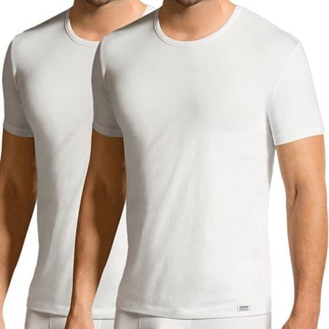 JOCKEY USA Originals Cotton Stretch 2-Pack T-Shirt In White (17301822)
