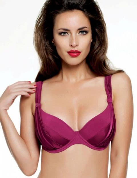 Panache Halle Underwire Balconette  Bikini Top In Cranberry (sw0752)