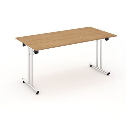 Fold Flat Rectangle Table 1200mm. Available in Beech, Maple, Grey Oak, Light Walnut & White Finish