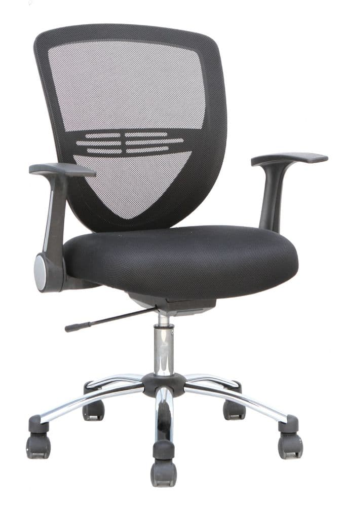 Iris Auto Tensioned Task Chair Office Chair Fold Away Arms Various Colours Available