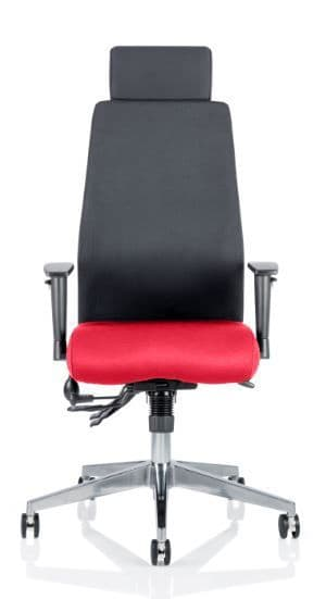 Onyx Posture Office Chair Arms Task Multi-Functional Mech Uph Black Back Headrest Choice of Colours