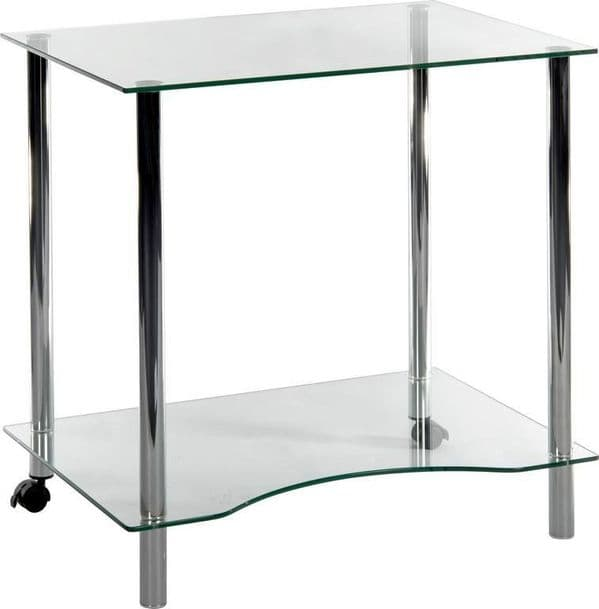 TEKNIK WORKSTATION Table With Crystal Tempered Glass