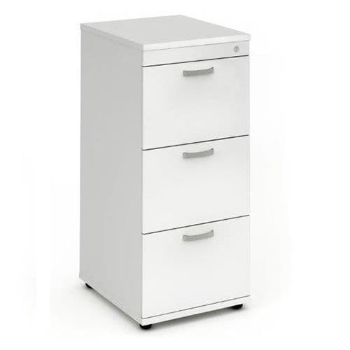 Three Drawer Filing Cabinet. Available in Beech, Maple, Grey Oak, Light Walnut & White Finish