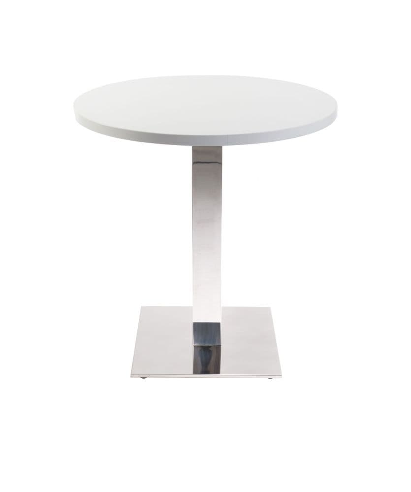 Café Table with Melamine Finish With Various Colours Available 600DIA