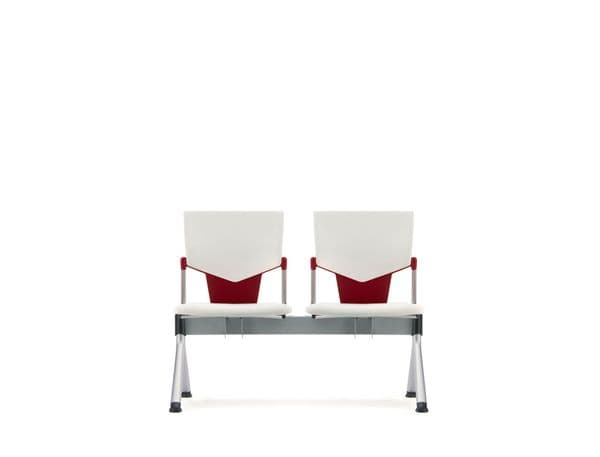 Pledge Ikon Beam 2 Seater Linked Chair With Upholstered Back and Seat