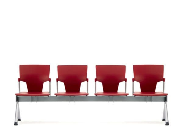 Pledge Ikon Beam 4 Seater Linked Chair With Plastic Back and Seat
