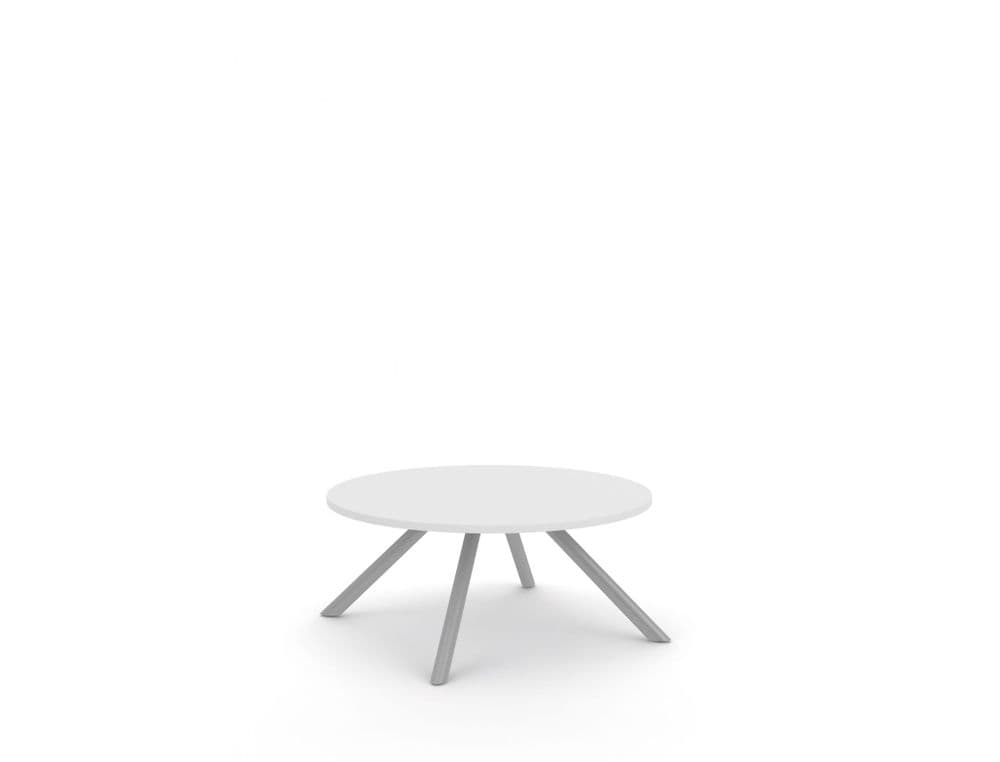 Pledge Runna Breakout & Coffee Table With Round MFC Top With A Metal Frame 800mm x 800mm