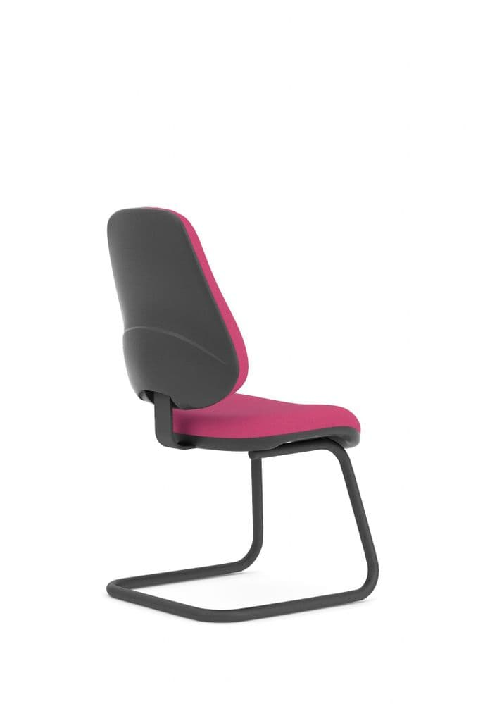 Pledge Topaz High Back Visitor Chair With Cantilever Frame Without Arms