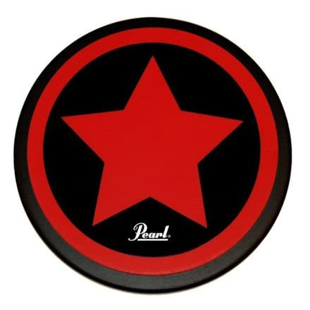 """Pearl 8"""" Practice Pad Star with logo (Red)"""