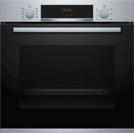 Bosch HBS534BS0B Serie 4 Built In 71 Litre Multi Function Electric Single Oven - Stainless Steel