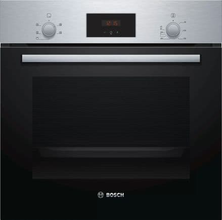 Bosch HHF113BR0B Serie 2 Built In 66 Litre Multi Function Electric Single Oven - Stainless Steel