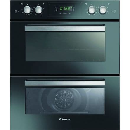 Candy FC7D415NX Timeless Built Under Double Multi Function Electric Oven - Black