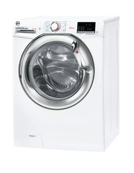 Hoover H3DS4965DACE-80 H-WASH 9kg Wash 6kg Dry 1400 Spin Freestanding Washer Dryer - White/Chrome