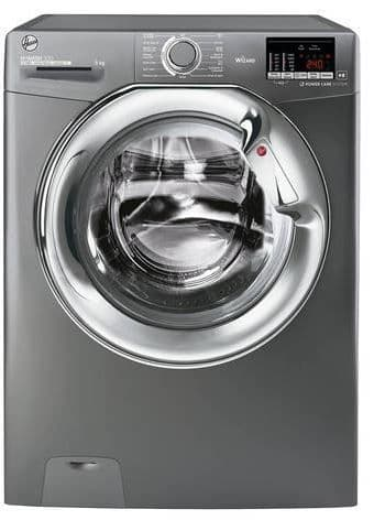 Hoover H3WS495DACGE H-WASH  9kg 1400 Spin A+++ Washing Machine - Graphite/Chrome